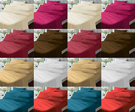Non Iron 12u201d (30cm) Extra Deep Fitted Bed Sheets ~ Plain