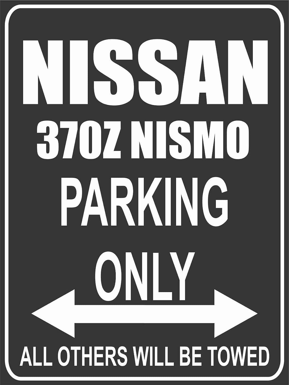 INDIGOS UG Park-nissan-370z-nismo Parkplatzschild Schwarz