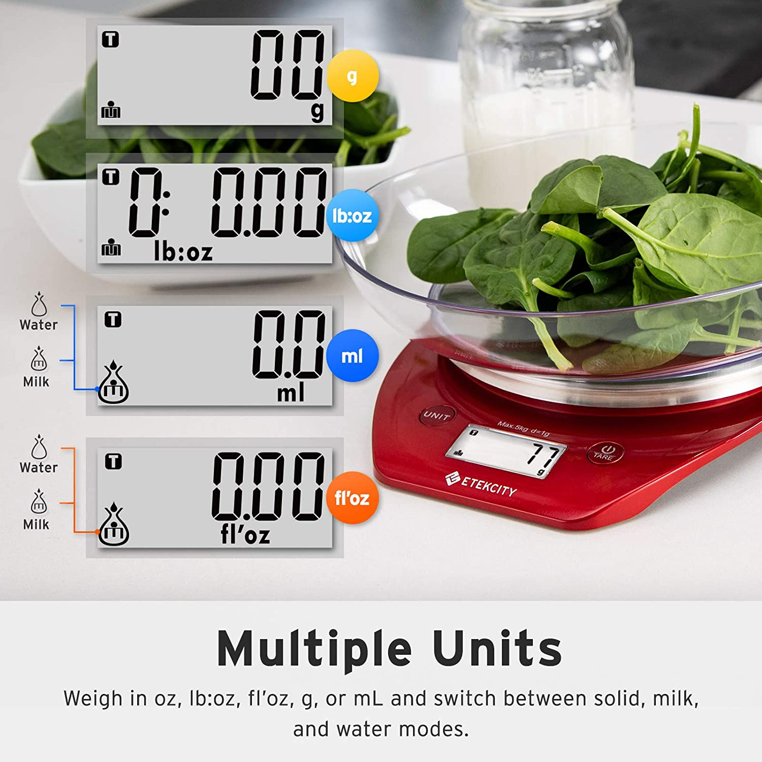 Etekcity 0.1g Food Kitchen Gram Scale Bowl, Gifts for Baking, Cooking, Meal Prep