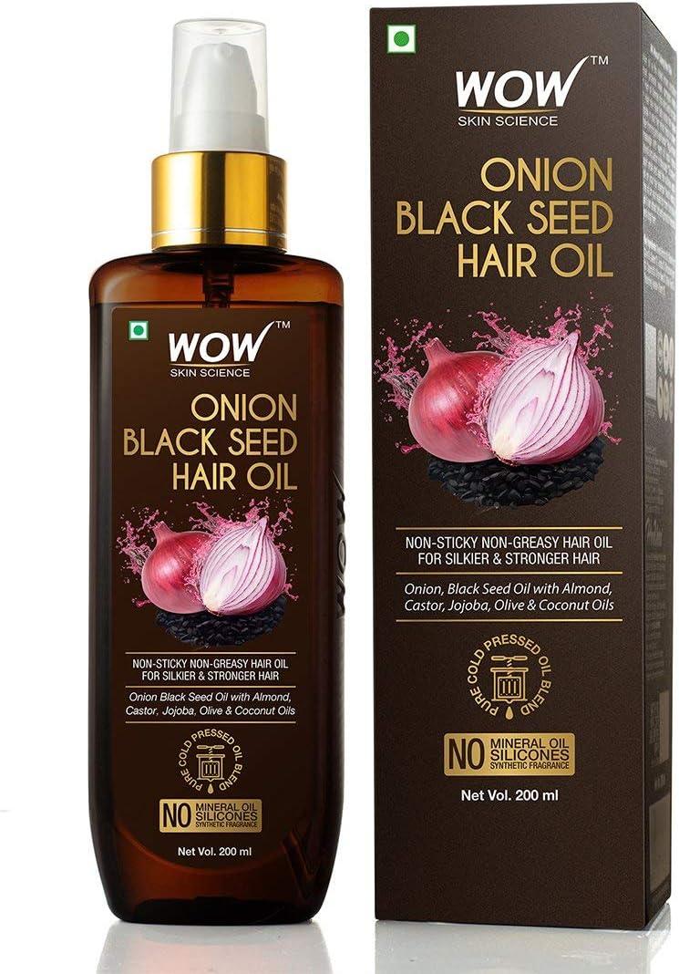 WoW Onion Black Seed Hair Oil 200mL / 6.8 fl. oz.