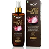 WOW Onion Black Seed Hair Oil for Natural Hair Care & Growth - Essential Vitamins In Almond, Castor, Jojoba, Olive…