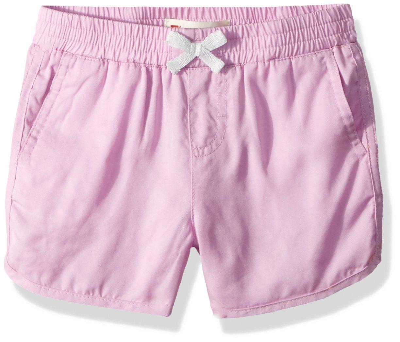 Levi's Big Girls' Lightweight Shorty Shorts, Pink Lavender, 7