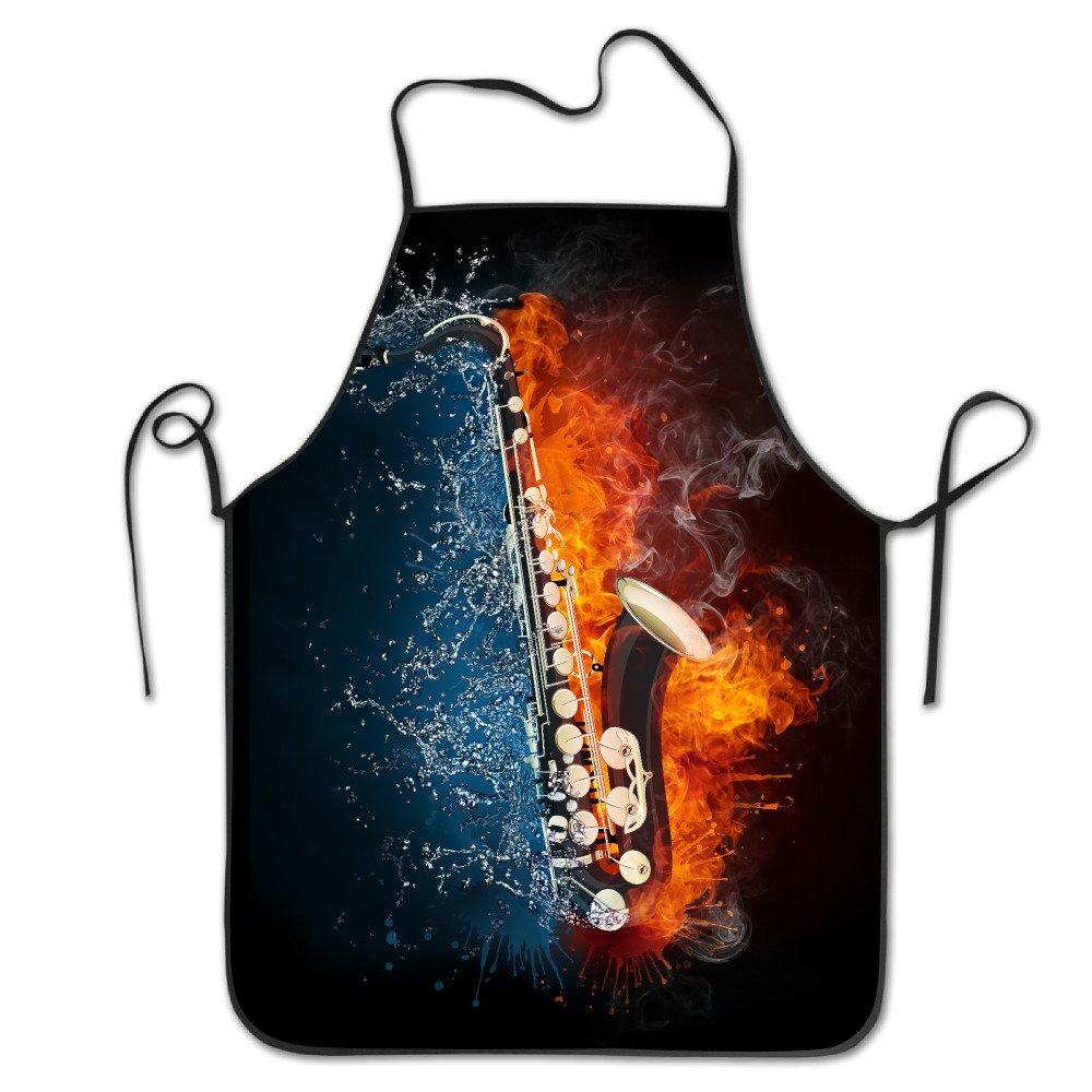 サックスで火と水の調節可能なエプロンキッチンガーデンCookingグリルレディースメンズGreat Gift for妻Ladiesメンズボーイフレンド   B073P5T4F7