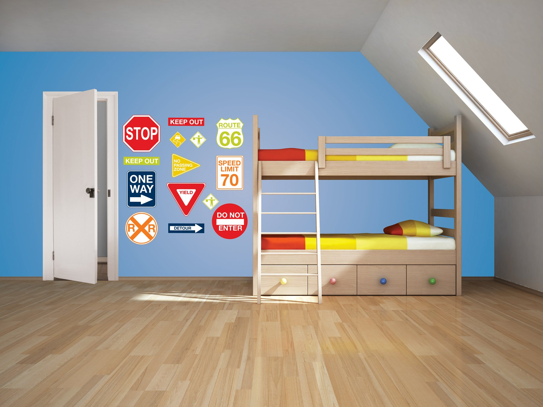 Wall Pops  WPK0617 Road Signs Wall Decals,  17. 25-inch by 39-inch, Two sheets by Wall Pops (Image #2)
