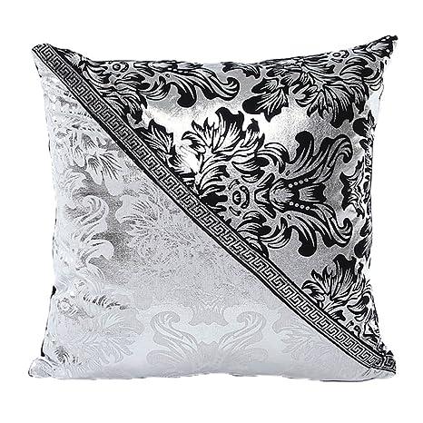 ZXKEE porcelana floral Empalme Diseño decorativos Sofá funda cojin Plaza 45 x 45 cm (D)