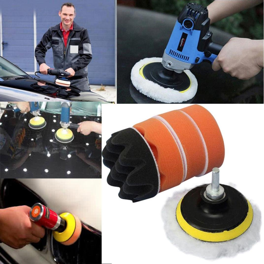 Gaddrt7pcs/Set Sponges Waves Plate Compound Car Polishing Tools Drill Adapter