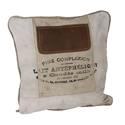 LAROUCO LOFT Cojín industrial con relleno en loneta de algodón. Vintage, Retro. Salón, dormitorio, habitación,estancias.Sofa,cama,sillón. Medidas ...