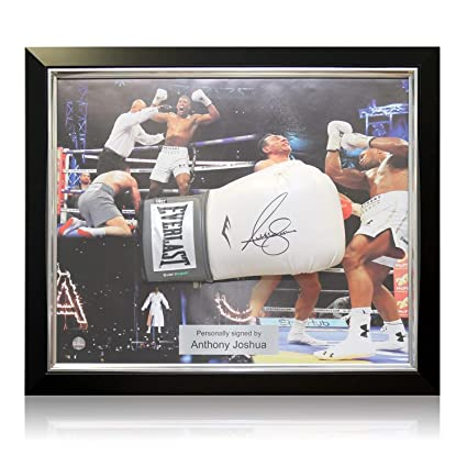 8fb58950870 Image Unavailable. Image not available for. Color  Anthony Joshua Signed  White Boxing Glove ...