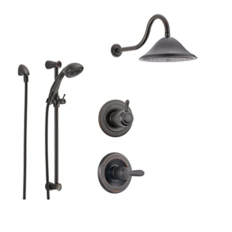 Delta Lahara Venetian Bronze Shower System With Normal Shower Handle,  3 Setting Diverter,