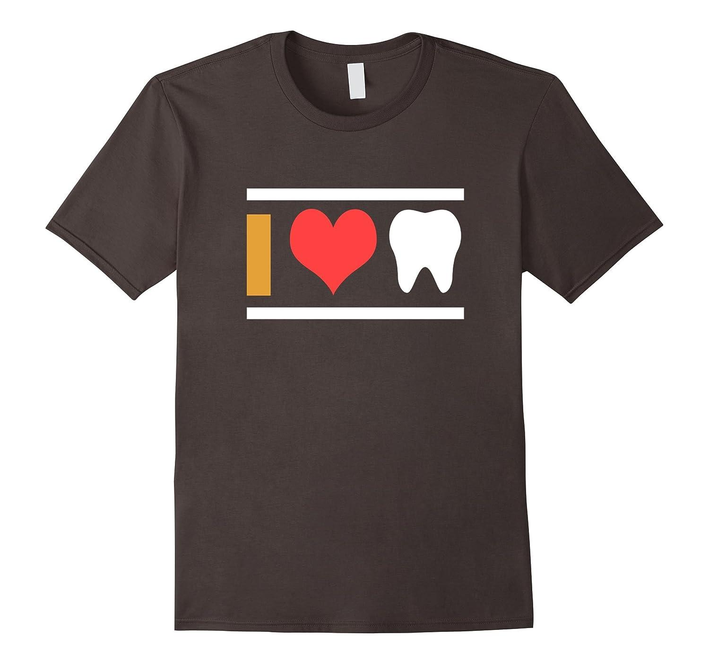 I LOVE Teeth Dental Hygienist Dentist Novelty Apparel-FL