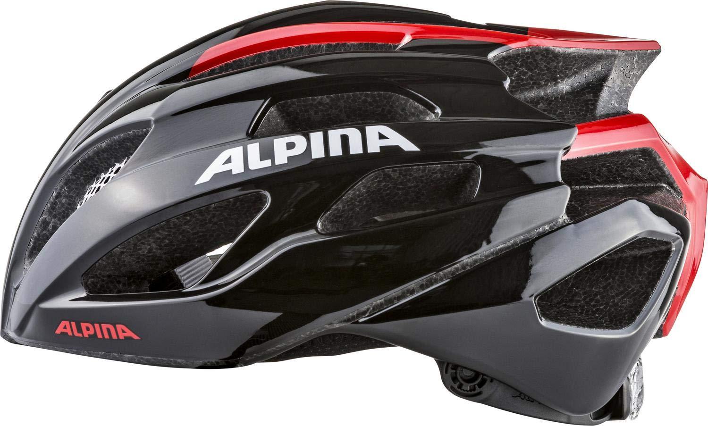 Alpina FEDAIA unisex colore: Nero//Rosso 53-58 cm Casco da ciclismo