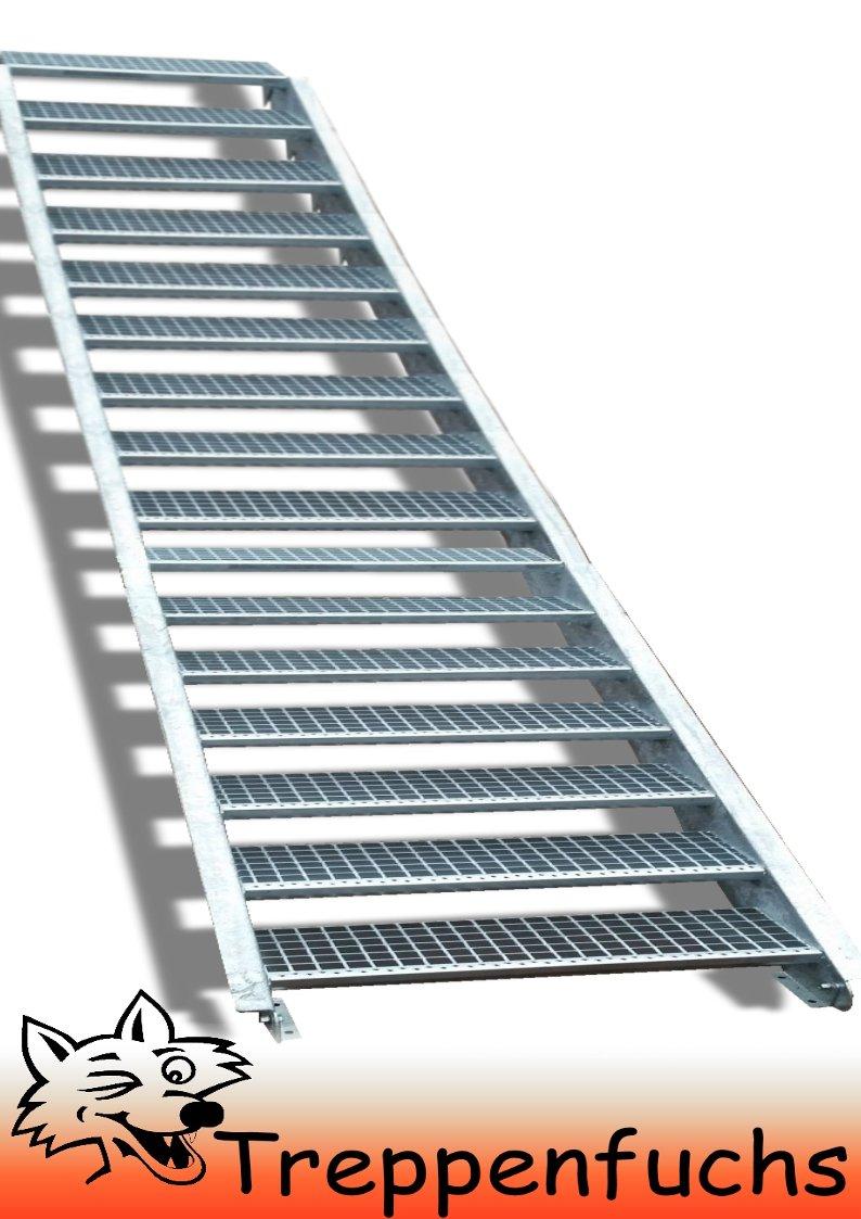 16 Stufen / 100cm breit / Höhe 274 - 340cm