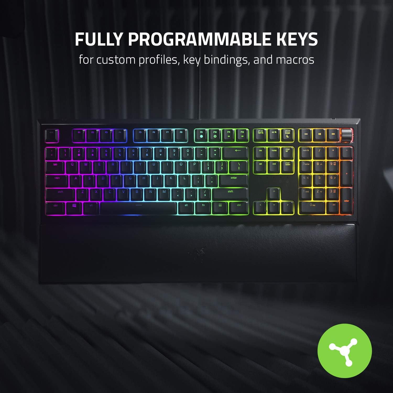 Razer Ornata V2 Mecha-membrane Gaming Keyboard fully programmable keys