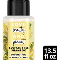 Love Beauty And Planet Hope and Repair Sulfate Free Shampoo for Split Ends, Coconut Oil & Ylang Ylang Sulfate Free 13.5 oz
