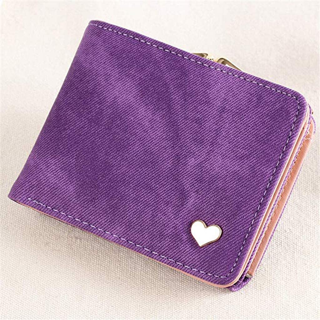 pollyhb Wallet Simple Fashion Denim Wallet Girl Multi-Purpose Folding Coin Purse Card Package