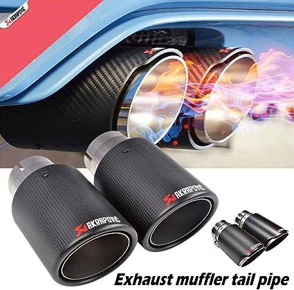 Type 2, Size 9 GORDESC 1 PC Escape de Carbono Silenciador Tail Pipe Arbon Modificaci/ón de Fibra Tail Pipes Escape de Coche Posterior Silenciador Tail Carbon Tip PARA Modificaci/ón de Coche