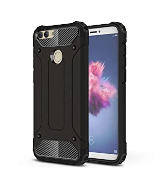 the best attitude 0aa27 e5b49 Huawei P Smart Case,SMTR Hybrid Armor Case Detachable 2 in 1 Shockproof  Tough Rugged Dual-Layer Case Cover for Huawei P Smart - Black