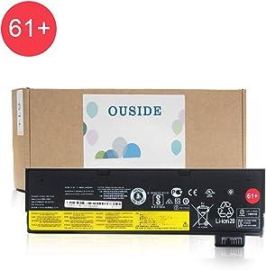 OUSIDE 61+ 01AV425 L18M6P71 Laptop Battery Compatible with Lenovo ThinkPad T470 T570 T480 T580 A475 P51S P52S TP25 Series 61+ 4X50M0881 01AV491 SB10K97582 SB10K97583 SB10K97661 Series.