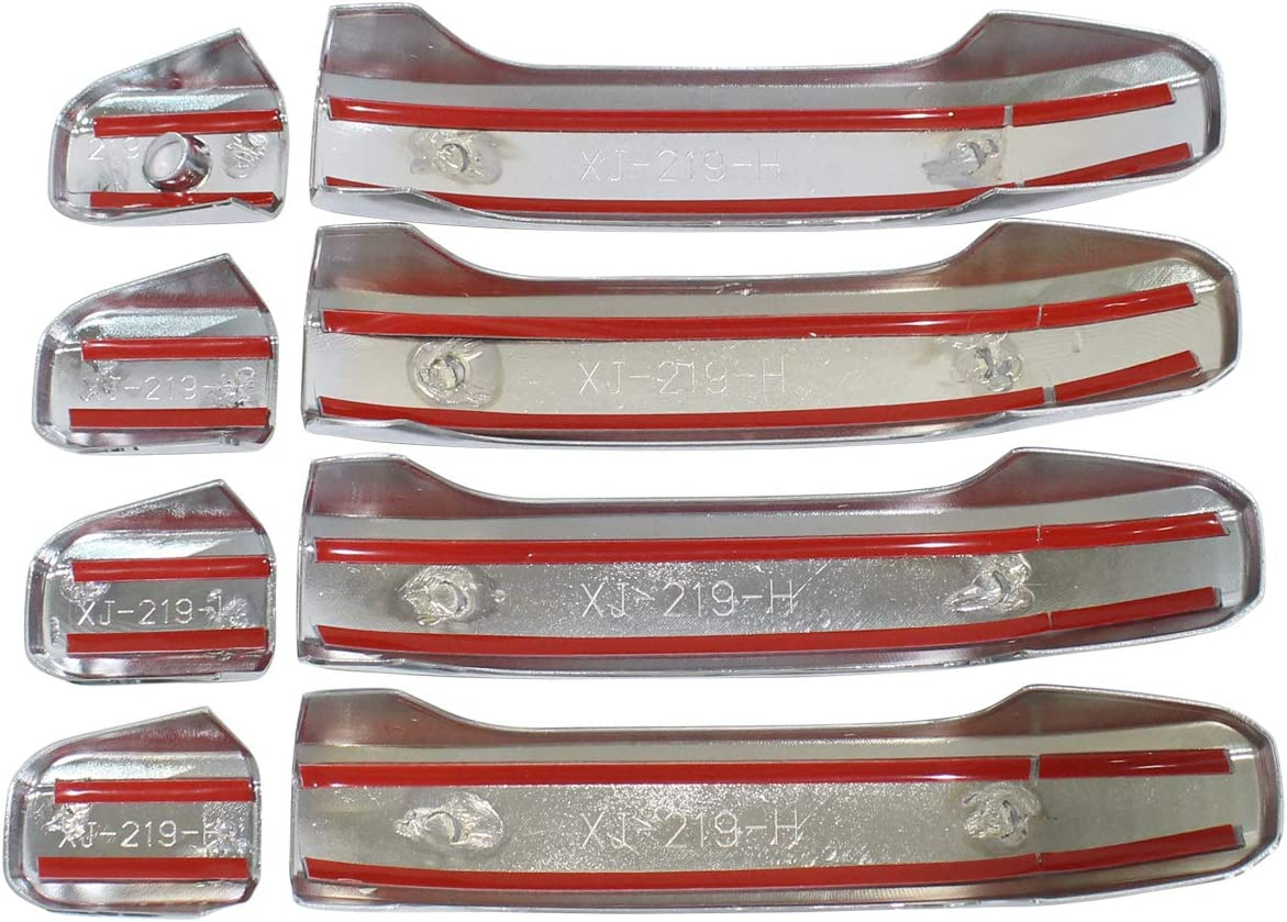 NewYall Set of 4 Front Rear Left Driver and Right Passenger Side ABS Plastic Chrome Outer Exterior Door Handle Covers