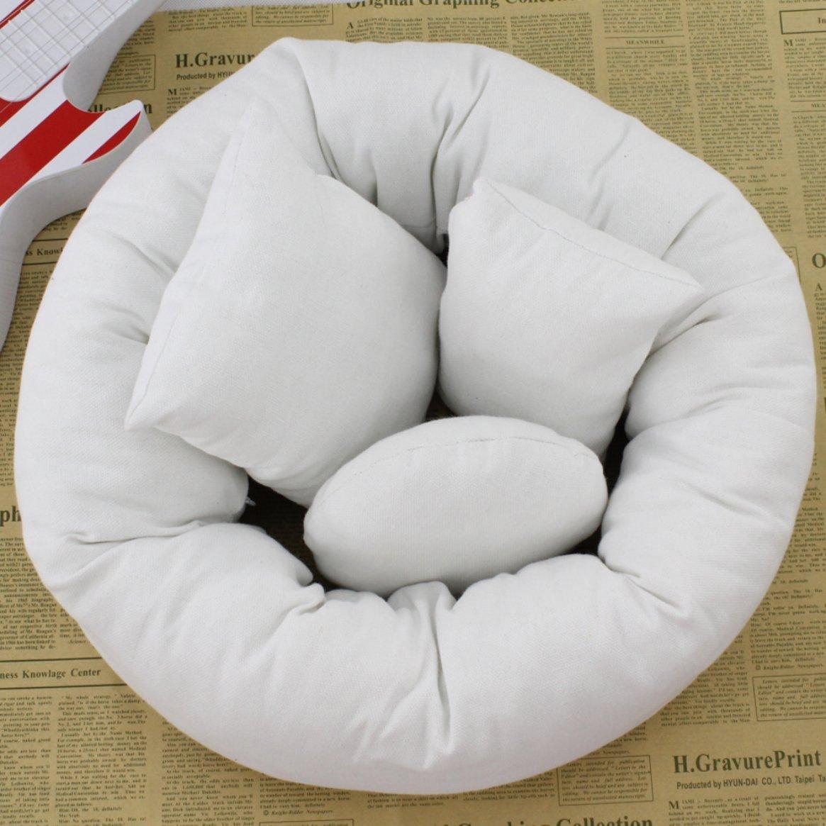 Confortevole 4 pezzi/set 2 colori bambino neonato cuscino cesto di riempimento ciambella fotografia puntelli set Delicacydex