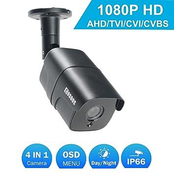 Cámara de Bala Interior/Exterior de 1080P, cámara de vigilancia CCTV de Seguridad a