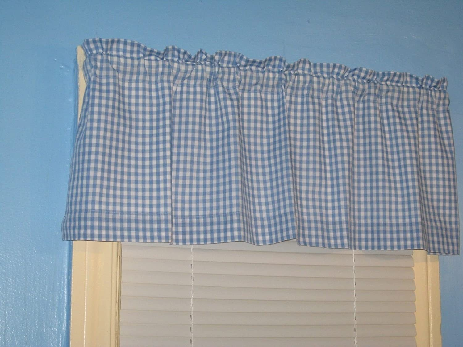 Amazon.com: LINED Blue White Gingham 1/4\
