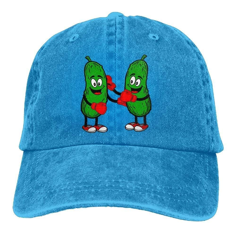 JTRVW Cowboy Hats Unisex Pickleball Brawl Denim Jeanet Baseball Cap Adjustable Sunbonnet for Men Women