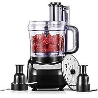 Robot de cocina, 12-Cup 4 velocidades Food Processor, picadora de alimentos con cuchilla y rallador, 3 diseños de…