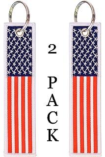 Amazon.com: Etiqueta con llavero de la bandera de EE. UU ...
