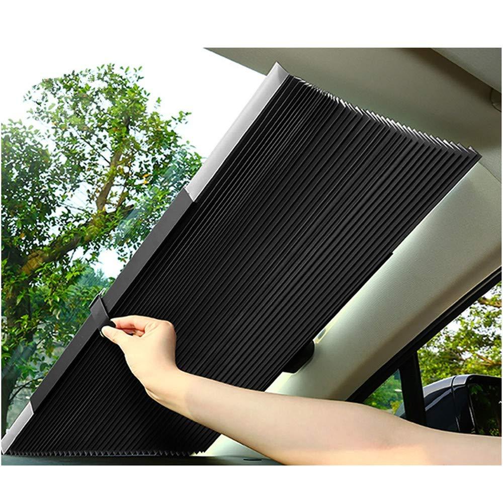 JJ.Accessory - Parasol retráctil para Parabrisas de Coche, protección UV, 46 cm / 65 cm