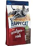HAPPY CAT スプリーム フォアアルペン リンド (アルパインビーフ) 成猫用ドライフード 全猫種 デンタルケア (1.4kg)