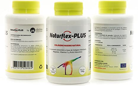NaturFlex-Plus. PACK AHORRO 3 BOTES. Colágeno Marino Natural + Magnesio + Ácido