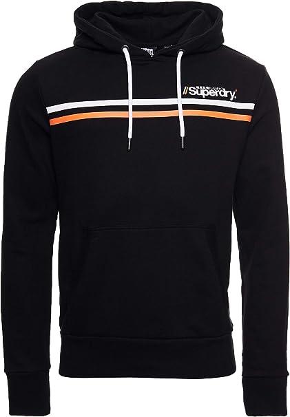 TALLA XL. Superdry Core Logo Sport Stripe Hood Capucha para Hombre