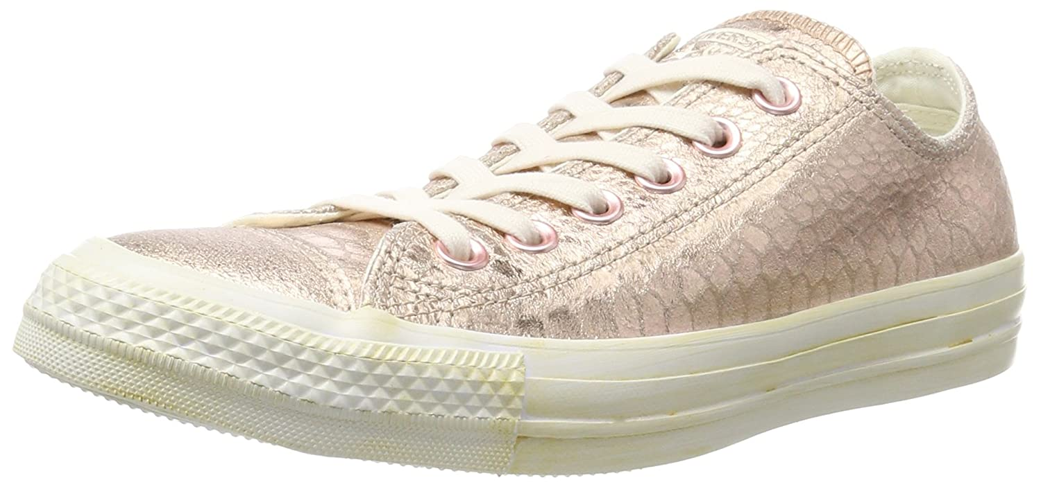 a6208f8f5439 Amazon.com  Converse rosegold white Perlatoleder Size 10.5 US Red  Shoes