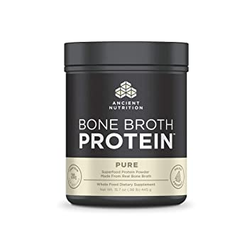 Ancient Nutrition Bone Broth Protein, Pure – Dairy Free, Gluten Free and  Paleo Friendly, 20 Servings