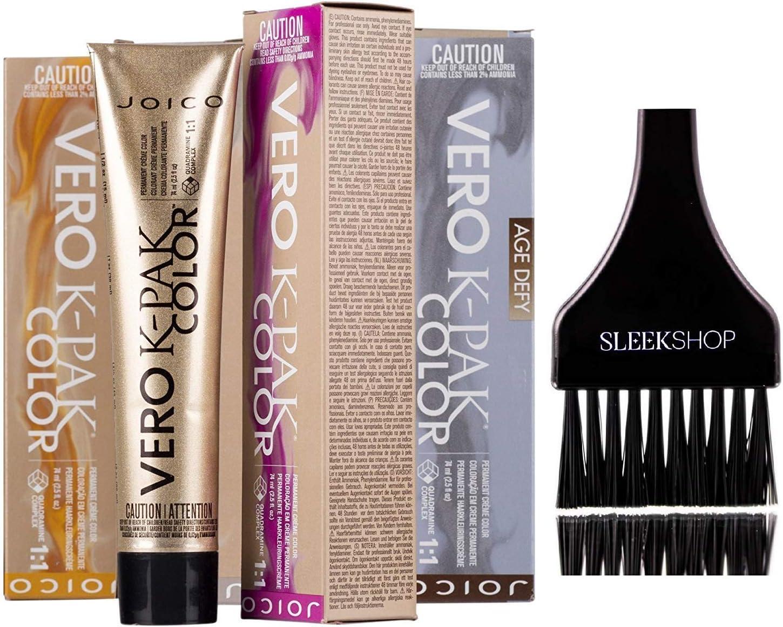 Joico Cream Hair Color Joico Vero K-Pak Color de Edad Defy Permanente Crema Color de pelo (liso Con Tinte cepillo) (6NN + Natural Light Natural Brown)