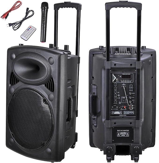 AW 1500 W portátil altavoz activo PA W/inalámbrica micrófono ...