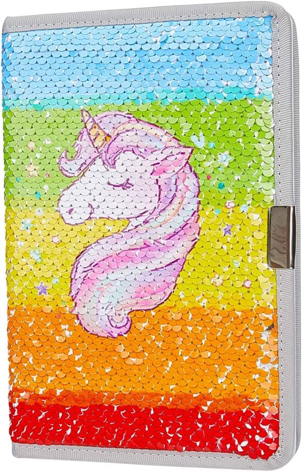 Rainbow Mermaid Sequin Notebook Color Changing Sequins Notebooks for Journal Dairy Children Gift Studying Supplies