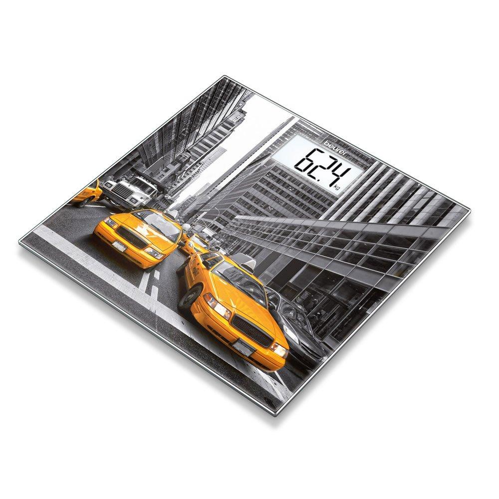 Beurer Glaswaage GS 203 New York extra d/ünne Personenwaage f/ür den besonderen Akzent in Ihrem Badezimmer