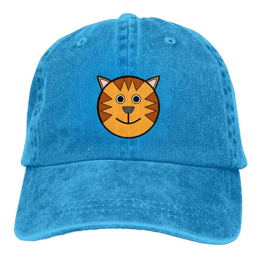 GqutiyulU Cute Tigre Adult Cowboy Hat RoyalBlue