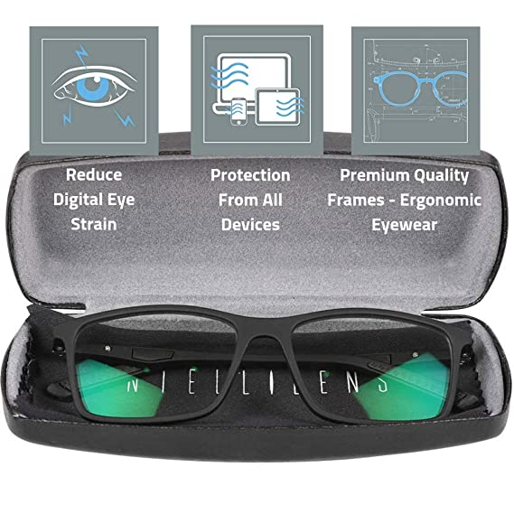 91c06f34b305 Intellilens® Premium Blue Cut Zero Power Spectacles with Anti-glare for Eye  Protection from