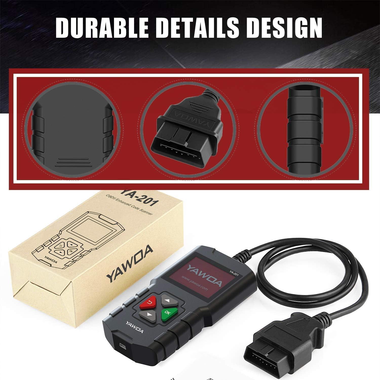 Modell 6 EDIAG YA201 OBD2 Scanner Fehlercodeleser f/ür Autos Motoren Datenstrom Batterietest Wiedergabe Kostenloser Code Reader