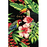 2021 Diary: A5 Week to View With Notes - Tropical Bird