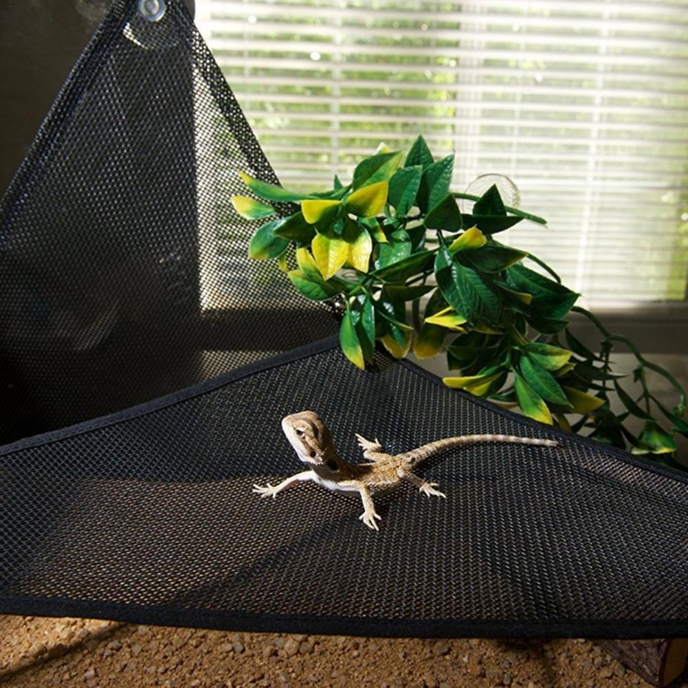 Welltobuy 2PCS Reptile amaca letto mesh traspirante imbottito per Lizards, Bearded Dragons, Anoles nero amaca Pads (30x 30x 30cm) Welltobuy-555