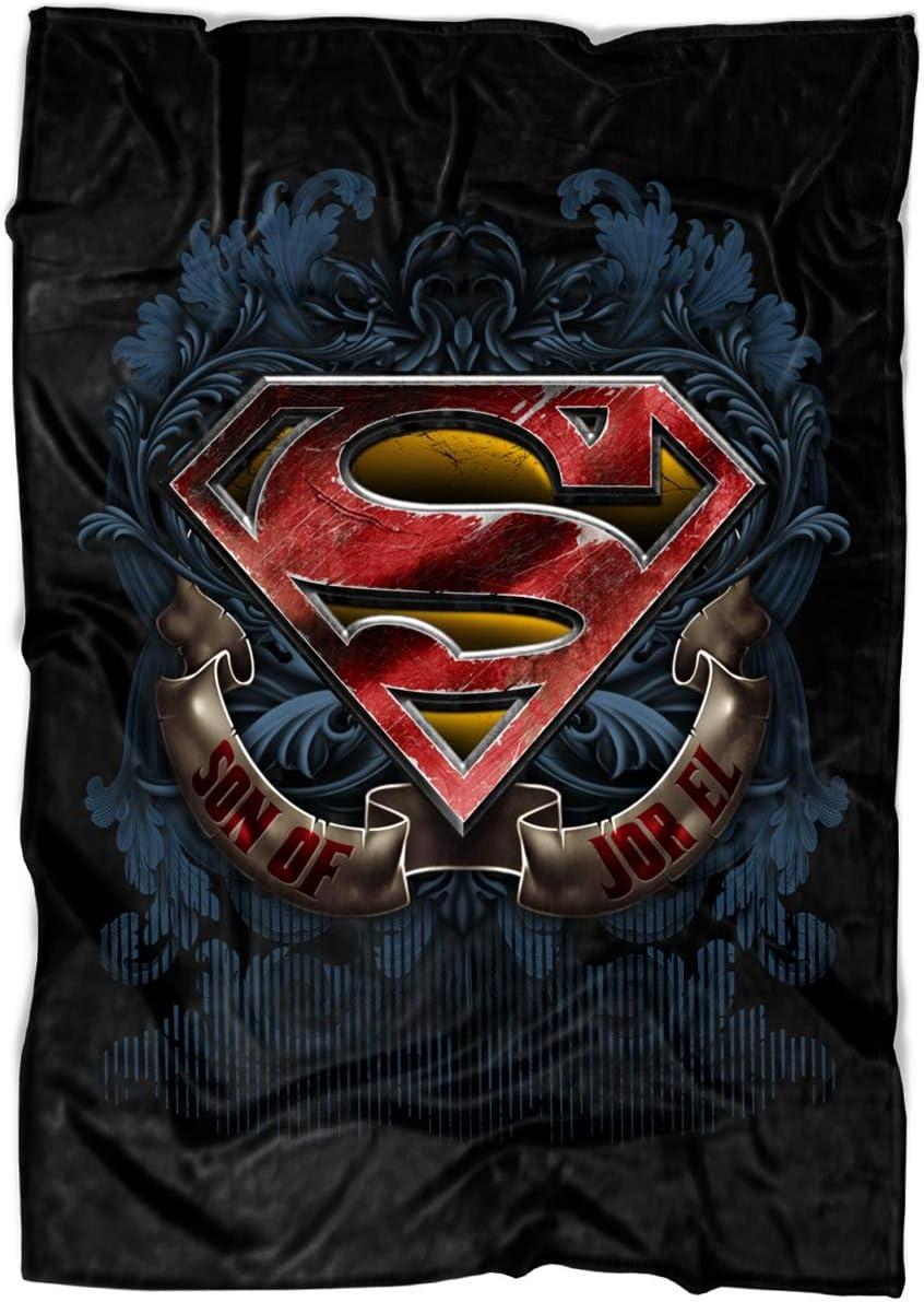 Superman Logo Soft Fleece Throw Blanket, Son of JOR El Fleece