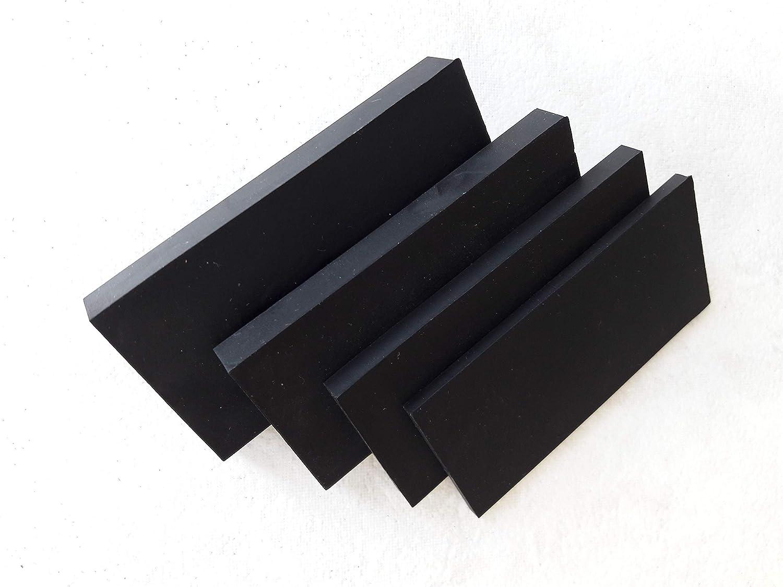 10 St/ück 40x80mm Gummiplatte 10mm St/ärke Waschmaschinenunterlage, Antivibrationsmatte