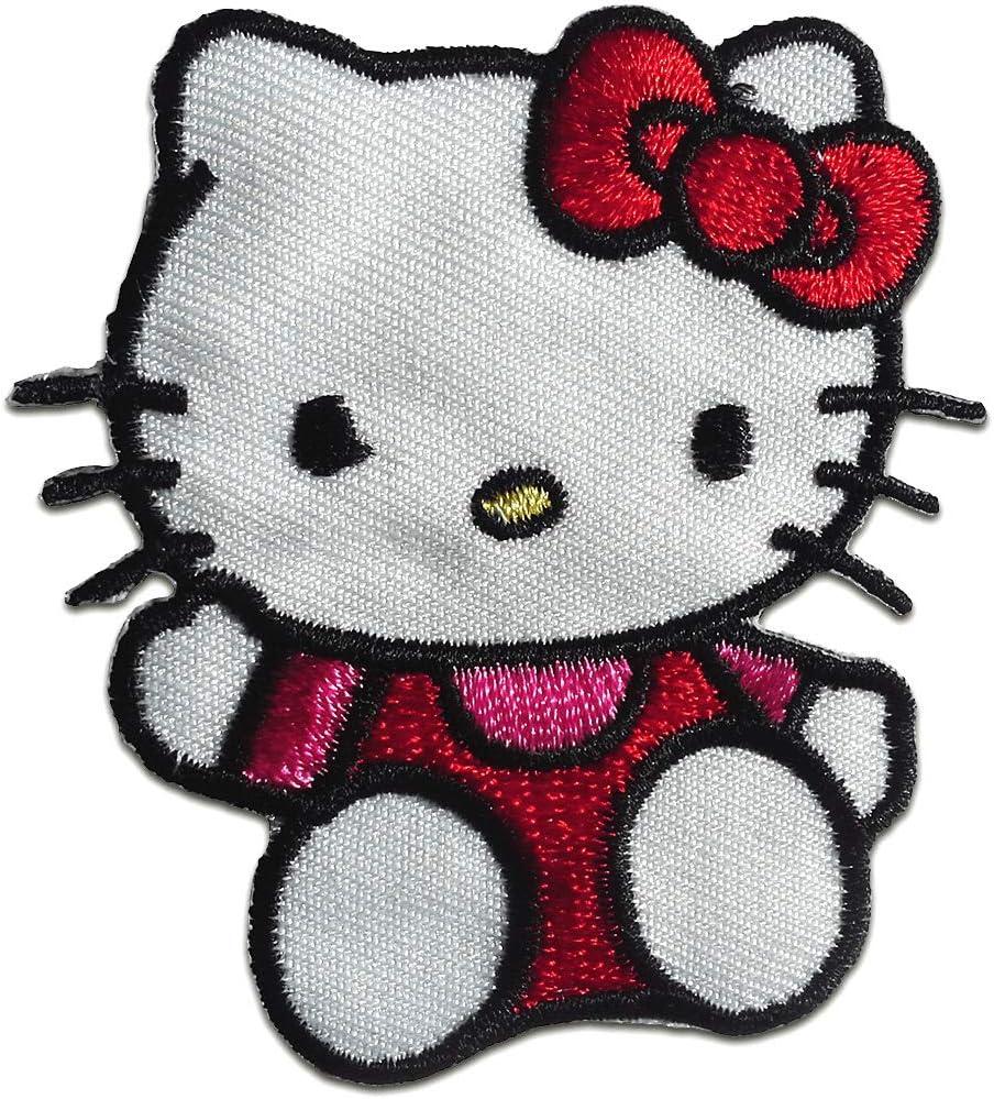 Parches - Hello Kitty sitzend niños - rojo - 6,4x5,8cm ...