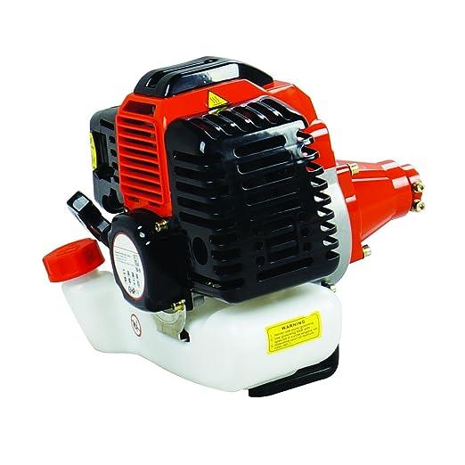 Todeco - Desbrozadora Potente, Podadora Potente - Desplazamiento del motor: 52 cm³ - Potencia máxima: 2,2 KW a 7,500 revoluciones/min - Naranja
