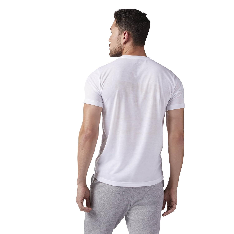 Reebok Mens Camo Delta Speedwick Crew T-Shirt