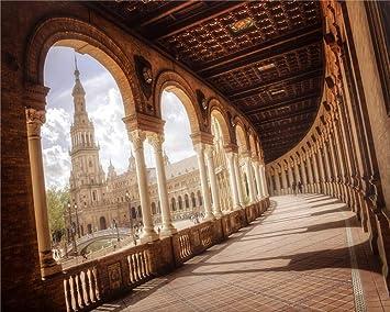 YKJPD Rompecabezas De Madera 500 Piezas,Sevilla,Plaza De España,Puzzles Juguetes para Adultos Mejor Decoración del Hogar: Amazon.es: Hogar